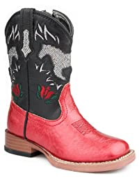 Roper Infant-Girls' Sparkly Horse Inlay Cowgirl Boot