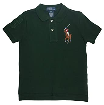 Polo Ralph Lauren Toddler Boy's Multicolor Big Pony Polo (4, Regent Green)