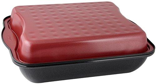 Zenker 7200 Special Cooking Marmite avec Couvercle Émail Noir/Rouge 40 x 34 x 14 cm