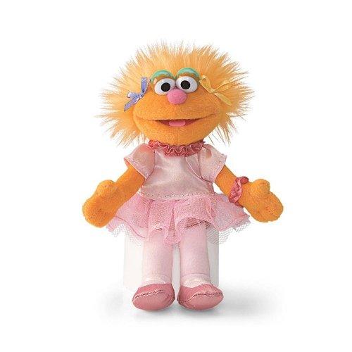 "Zoe Ballerina Princess 6"" Sesame Street Plush Beanbag Doll by Gund - Toy"