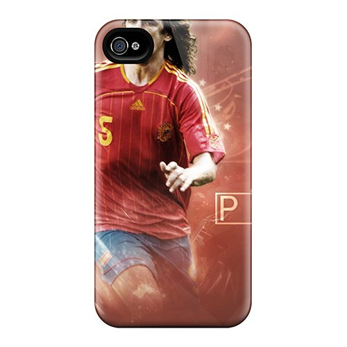 Durable Defender Case For Iphone 4/4S Tpu Cover(The Player Number 5 Barcelona Carles Puyol) back-783813