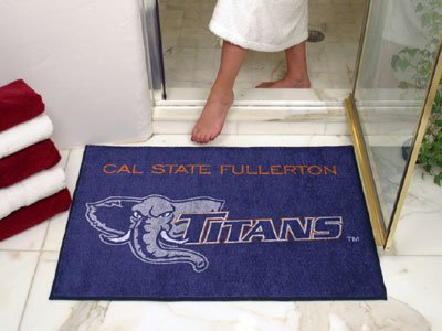 NCAA Cal State Fullerton Titans Chromo Jet Printed Area Rug Floor Mat 45