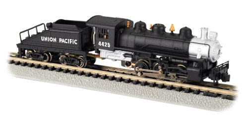 Bachmann Industries #4425 USRA 0-6-0 Switcher Locomotive and Tender Union Pacific Train Car, Black/Silver, N Scale