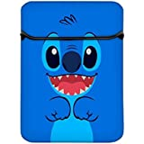 Snoogg Cute Blue Inface 14 Inch Laptop Case Flip Sleeve Bag Computer Cover