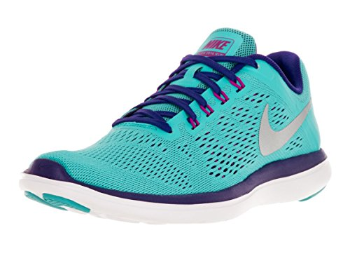Women's Nike Flex 2016 Running Shoes (8.5 B(M) US, Gamma Blue/Concord/Hyper Violet/Metallic Silver) (Nike Shoes Blue compare prices)
