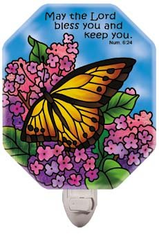 Nightlight-NL4018R-Butterfly Bush/May the Lord bless you - 1
