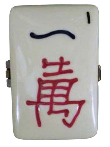 Chinese Mahjong Mah Jongg Tile Hinged Trinket Box phb