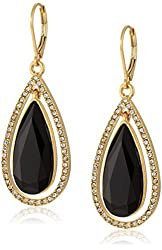 """Anne Klein """"Color Crush"""" Gold-Tone Leverback Drop Earrings"""