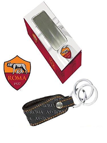 Portachiavi 3 anelli con box A.S. Roma Accessori ufficiali calcio *00009