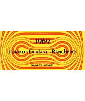1969 FORD TORINO FAIRLANE RANCHERO Owners Manual Guide