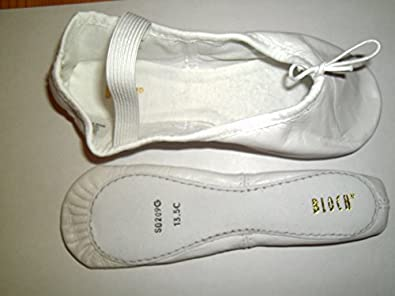"""BLOCH """"ARISE"""" S0209 Black or white leather ballet shoes. (KIDS UK 7, WHITE)"""