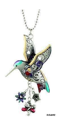 Hummingbird Color Car Charm