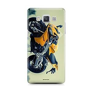 Motivatebox - Samsung Galaxy E5 Back Cover - Dematerialized Batman Polycarbonate 3D Hard case protective back cover. Premium Quality designer Printed 3D Matte finish hard case back cover.