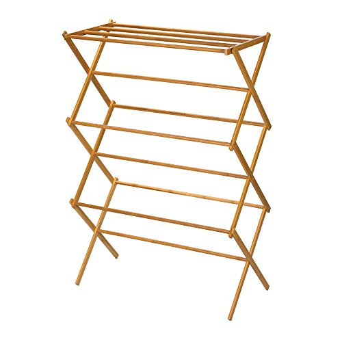 Household-Essentials-Folding-Clothes-Drying-Rack-Bamboo