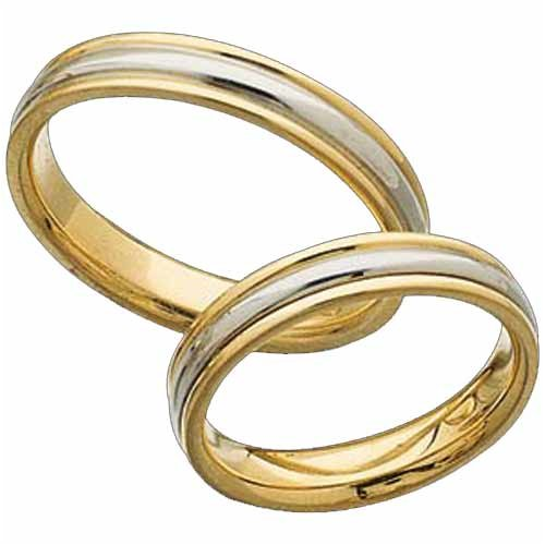 Platinum Wedding Bands 18K Yellow Gold And Platinum Comfort Fit Ladies Wedding Band