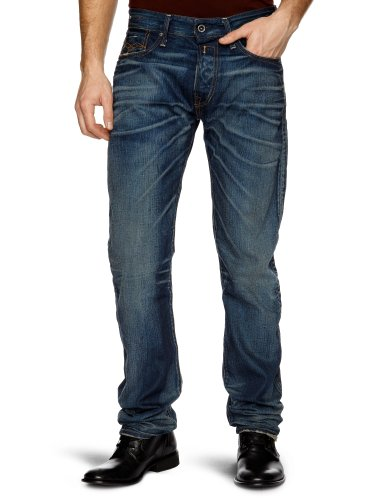 Replay Jennon N Straight Men's Jeans Dark Blue W34INxL32IN
