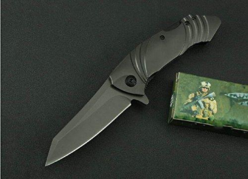 Outdoor Survival Camping Black Rescue Folding Pocket Knife Mkx25-7.71''