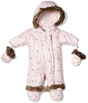 Absorba Baby Microfiber Heart Snowsuit, Pink, 3-6 Months