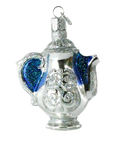 Old World Christmas Coffee Pot Glass Ornament