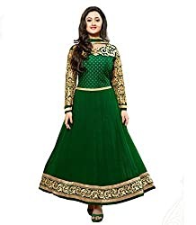 RadharaniWomenGeorgetteDress Material (RR02C1249600_Green)