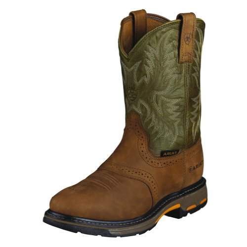 Ariat Men's Workhog Pull-On Work Boot Bark 11 D(M) US