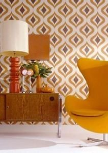 Superfresco Easy Trippy Wallpaper - Orange from New A-Brend