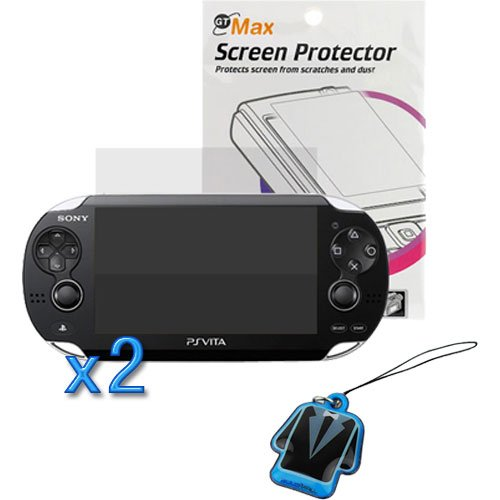 Birugear 2X Clear Lcd Screen Protector + Lcd Pvc Mobile Cleaner For Sony Ps Vita