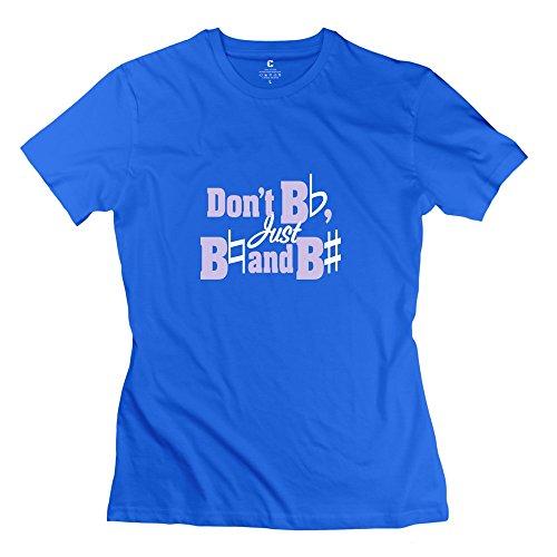 Dont Be Flat Ideal Women T-Shirts Medium Royalblue