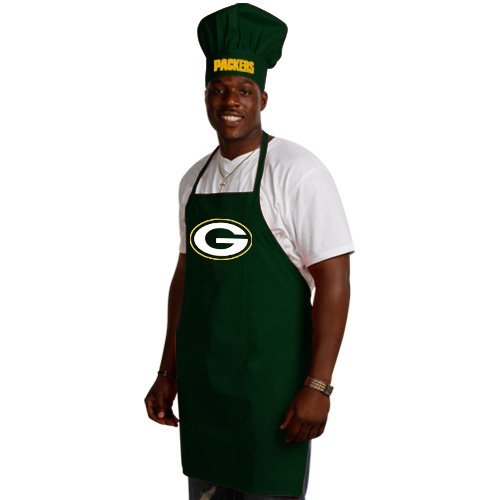 NFL Green Bay Packers Chef Hat and Apron Set