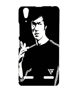 Vogueshell Bruce Lee Printed Symmetry PRO Series Hard Back Case for Lenovo A6000