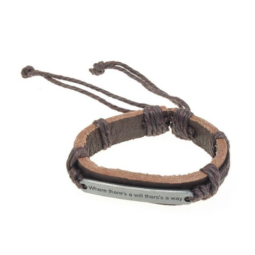 Retro Weaved Genuine Leather Bracelet With