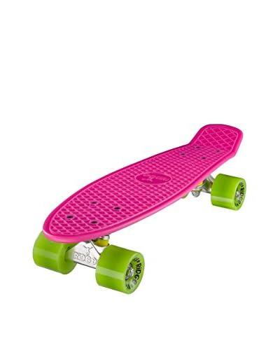 Ridge Skateboards Monopatín Original 22″ Mini Cruiser Fucsia / Verde