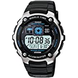 Casio Men's Silver-Tone Multi-Functional Digital Sport Watch Black AE2000W-1AV
