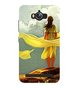 Chiraiyaa Designer Printed Premium Back Cover Case for Asus Zenfone Max (Girl women painting) (Multicolor)