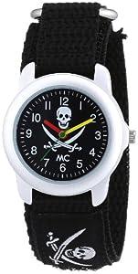 MC 19845 - Reloj para niños de cuarzo, correa de caucho color negro