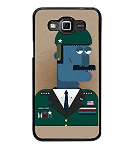 Fuson Premium 2D Back Case Cover I am Soldier With yellow Background Degined For Samsung Galaxy Grand 3 G720::Samsung Galaxy Grand Max G720