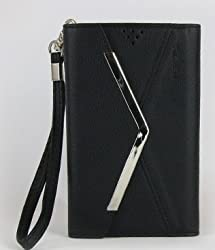 iPhone 5/Black Nekeda Card Wallet Case with Mirror of iPhone 5(AT&T,T-Mobil,Sprint,Verizon)-Black
