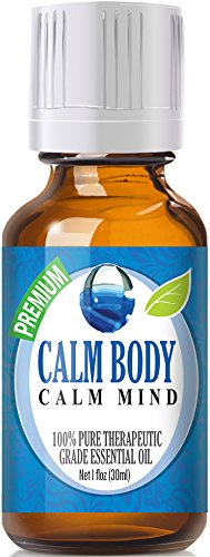 Calm Body, Calm Mind Blend 100% Pure, Best Therapeutic Grade Essential Oil - 30ml / 1 (oz) Ounce - Sweet Marjoram, Roman Chamomile, Ylang Ylang, Sandalwood, Vanilla, French Lavender