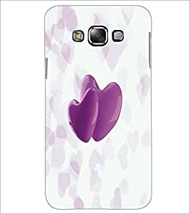 Printdhaba Hearts D-4995 Back Case Cover For Samsung Galaxy A8