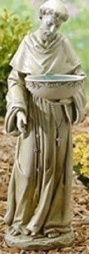 Roman Saint Francis Solar Powered Bird Bath [DS 47445]