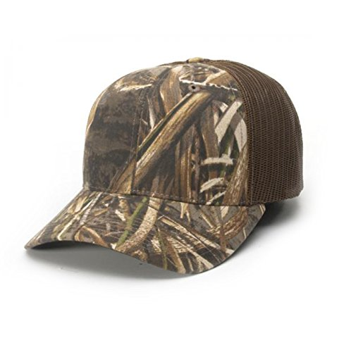 Richardson Cotton Twill Print/Pattern Trucker Hat (Highland Brown) (Richardson Baseball Caps compare prices)