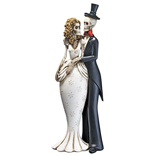 Design Toscano Day of the Dead Skeleton Bride and Groom Halloween Statue