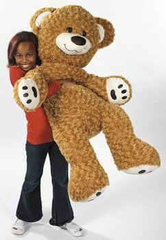 "46"" Plush Jumbo Brown Teddy Bear Toy front-932456"