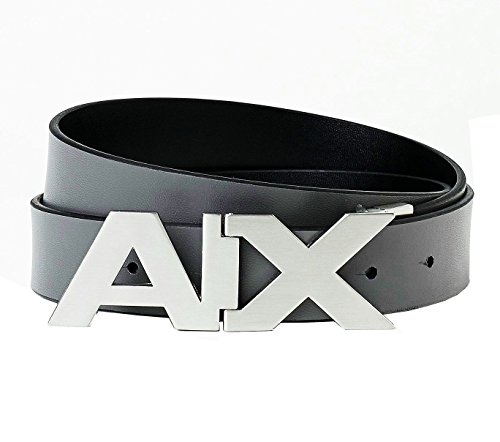 AX ARMANI EXCHANGE REVERSIBLE BELT BLACK & GRAY LEATHER BRAND NEW # 17 (Ax Belt compare prices)
