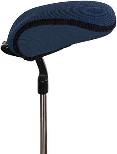 Stealth Club Covers 14060 Putter Blade Boot'E Golf Club Head Cover, Navy Blue Solid/Black Trim