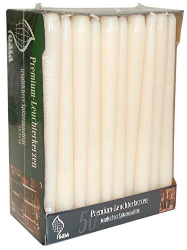 Caso di 50, colore: avorio/crema 25cm candele affusolate. Di alta qualità per casa/eventi/ristoranti.