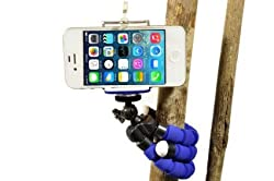 Flexible iPhone Tripod 6s 6s Plus 6 6 Plus 5s 5c 5 4s 4 Galaxy S6 S5 S4 S3 S2 Webcam Selfie Photo Video Lightweight Mini Bendable (Better than Joby Gorilla Tripod) by DaVoice (Blue)