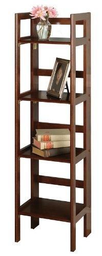Folding bookcase narrow