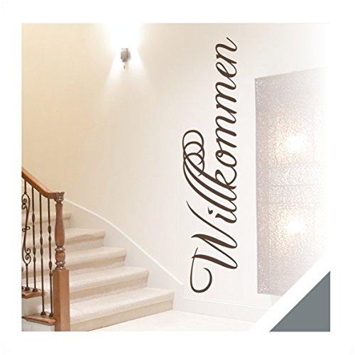 wandtattoo zitat worte willkommen inkl rakel wrt02 grau. Black Bedroom Furniture Sets. Home Design Ideas