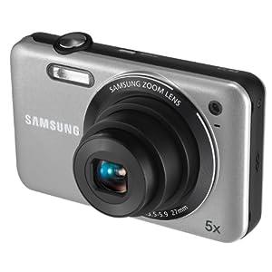 Samsung ES73 Digitalkamera (12 Megapixel, 5-fach opt. Zoom, 6,86 cm TFT LCD, Bildstabilisierung, 27 mm Weitwinkel, Staubgeschützt ) silber